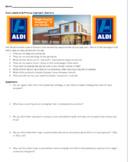 Marketing Mix Price Cost Leadership Aldi Scenario with Questions
