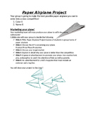 Marketing Paper Airplane Project