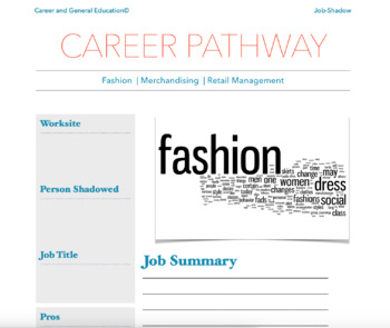 Marketing Pathway Or Career Cluster Job Cards By Paper Birch Tpt