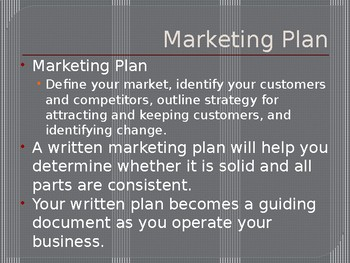 Marketing Plan - Entrepreneurship Ch. 5