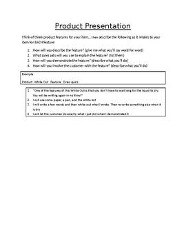 Marketing Product Presentation Practice