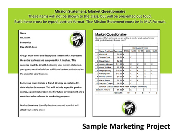 Marketing Project - Macroeconomics or Business