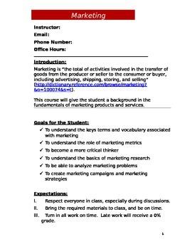 Marketing Syllabus (Doc)