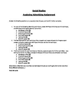 Marketing Techniques Assignment