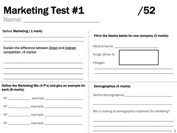 Marketing Test #1