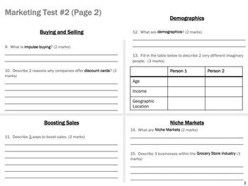Marketing Test #2