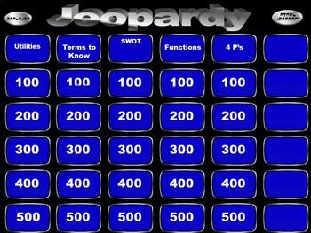 Marketing Unit 1 Review Jeopardy