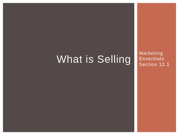 Marketing: What is Selling?