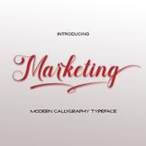 Marketing font script