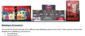 Marketing is All Around Us-Photography & Slides Group Activity Project Based