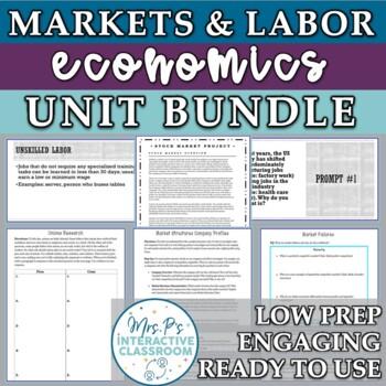 Markets, Businesses, & Labor Unit Bundle