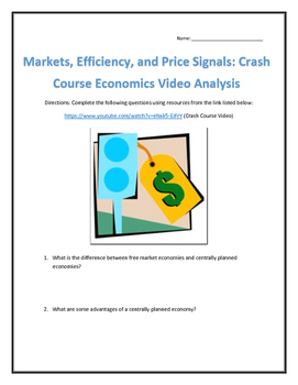 Markets, Efficiency, and Price Signals: Crash Course Economics- Video Analysis