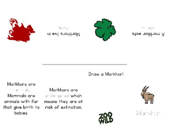 Markhor -- 10 Resources -- Coloring Pages, Reading & Activities