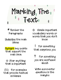 Marking The Text Handout/ Poster
