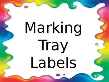Marking Tub Labels
