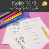 Marking the Text Reading Toolkit