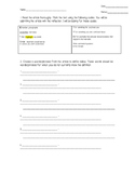 Marking the Text Worksheet- Useful for any content area