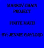 Markov Chain Project