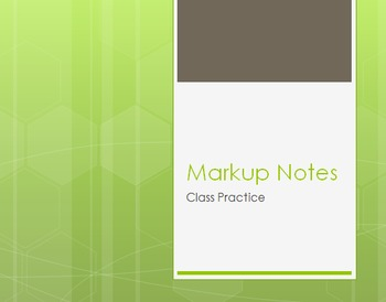 Markup Class Practice