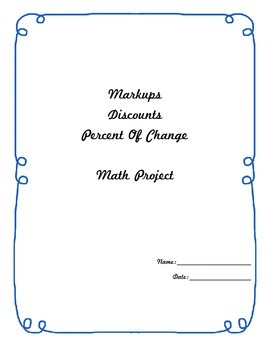 Markup, Discount and Percent Change project