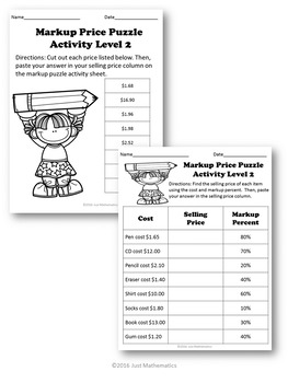 Markup Price Puzzle