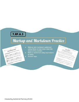 markup and markdown practice by katherine flannery tpt