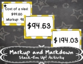 Markup and Markdown Stack-Em Up! Activity