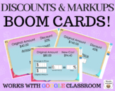 Markups & Discounts  – Boom Cards – Works with GOOGLE CLASSROOM
