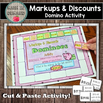 Markups and Discounts Dominoes Activity (Includes Markups,