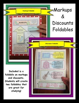 Markups and Discounts Foldable