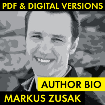 Markus Zusak Author Study Worksheet, Easy Biography Activity, CCSS