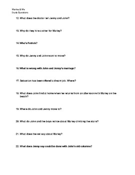 Marley and Me movie questions