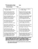 Marlowe & Raleigh ~ Passionate Shepherd Poem Pairing Worksheet