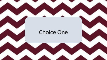 Maroon Chevron Lunch Choice