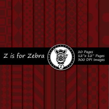 Maroon / Dark red dual tone Digital Paper Pack 1 - CU ok { ZisforZebra}