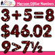 Maroon Glitter Math Numbers Clip Art {Great for Classroom Decor & Resources}