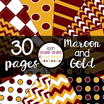 Maroon and Gold Digital Paper