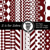 Maroon / white dual tone Digital Paper Pack 1 - CU ok { Zi