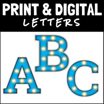 Marquee Block Bulletin Board Display Letters: Aqua