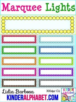 Marquee Lights { Clip Art for Teachers }