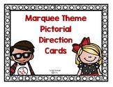 Marquee/Spotlight Theme Pictorial Direction Cards