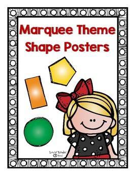 Marquee/Spotlight Theme Shape Posters