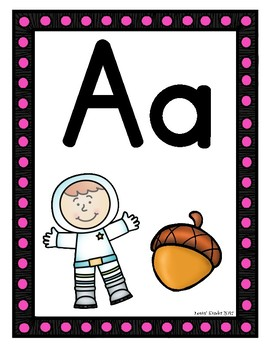 Marquee Themed Alphabet Posters