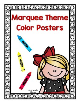 Marquee/Spotlight Themed Color Posters