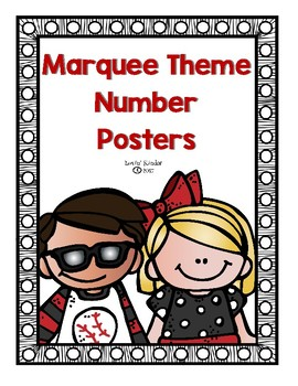 Marquee/Spotlight Themed Number Posters (0-20)