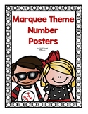 Marquee Themed Number Posters (0-20)