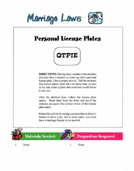 Marriage Laws Lesson