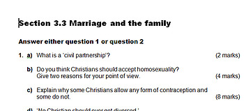 Marriage & The Family Assessment