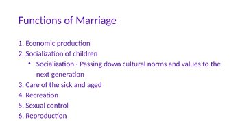 Marriage and Family PowerPoint, Guided Notes, Completed Notes, and Activity