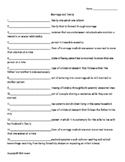 Marriage and Family Vocabulary Quiz or Worksheet for Sociology